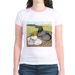 Trumpeter Pigeon Pair Jr. Ringer T-Shirt