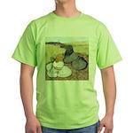 Trumpeter Pigeon Pair Green T-Shirt