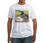 Trumpeter Pigeon Pair Fitted T-Shirt