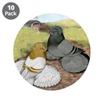 """Trumpeter Pigeon Pair 3.5"""" Button (10 pack)"""