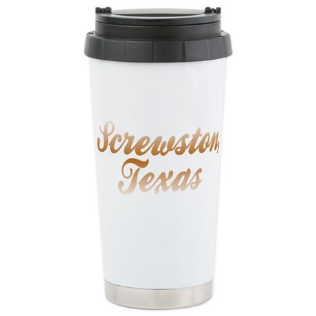 Screwston Texas Stainless Steel Travel Mug