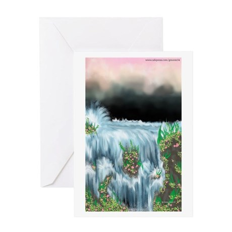 Ice Water River Blue Greeting Card