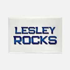 lesley rocks Rectangle Magnet