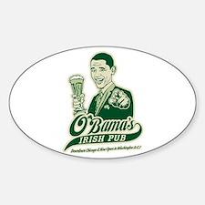 Obama's Irish Pub Oval Decal