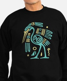 Tribal Crane Sweatshirt (dark)