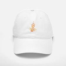 ORANGE SWIRLS_8 Baseball Baseball Cap
