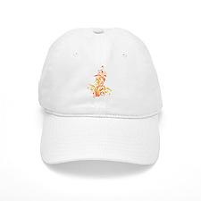 ORANGE SWIRLS_8 Baseball Cap