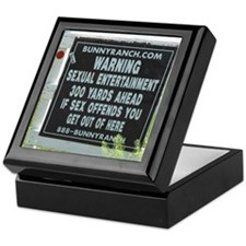Bunny Ranch Sex Warning Sign Keepsake Box