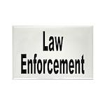 Law Enforcement Rectangle Magnet (10 pack)