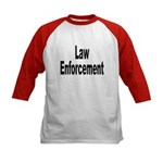 Law Enforcement (Front) Kids Baseball Jersey