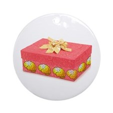 Red Gift Ornament (Round)