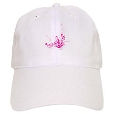 PINK SWIRLLY FLOWERS Baseball Cap