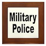 Military Police Framed Tile