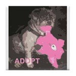Lhasa Apso Rescue Tile Coaster