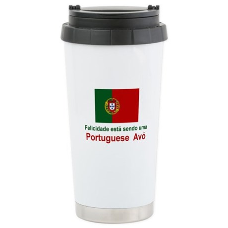 Happy Portuguese Avo (Grandmother) Stainless Steel