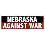 Nebraska Against War bumper sticker