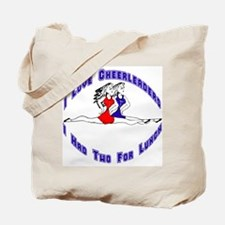 I Love Cheerleaders Tote Bag