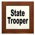 State Trooper Framed Tile