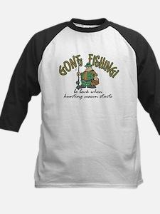 Gone Fishing - Hunting Season Kids Baseball Jersey