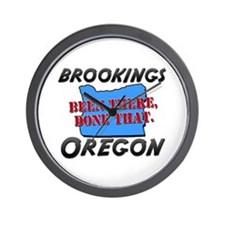 brookings oregon - been there, done that Wall Cloc
