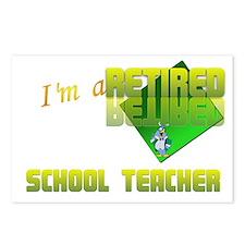 Retired School Teacher . Postcards (Package of 8)