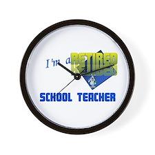 Retired School Teacher . Wall Clock