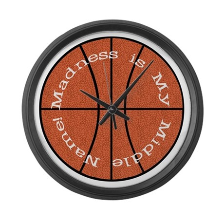 Madness is My Middle Name Large Wall Clock