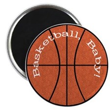 """Basketball, Baby! 2.25"""" Magnet (100 pack)"""