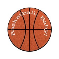 """Basketball, Baby! 3.5"""" Button (100 pack)"""