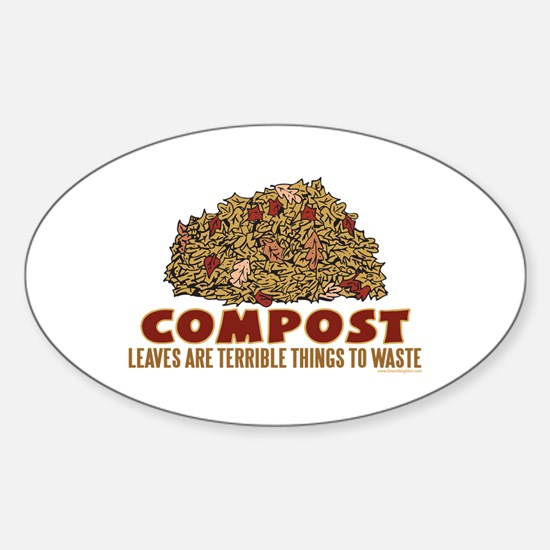 Composting Oval Bumper Stickers