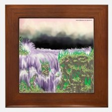 Ice Water River Purple Framed Tile