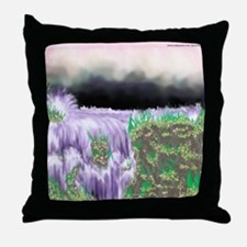Ice Water River Purple Throw Pillow