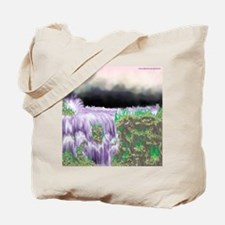 Ice Water River Purple Tote Bag