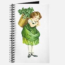 Cute Irish Shamrock Girl Journal