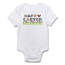 Happy Easter Egg Flowers Infant Bodysuit