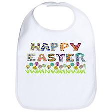 Happy Easter Egg Flowers Bib
