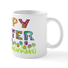Happy Easter Egg Flowers Mug