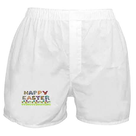 Happy Easter Egg Flowers Boxer Shorts