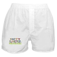 Happy Easter Egg Flowers Boxer Shorts