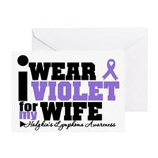 I Wear Violet For My Wife Greeting Card