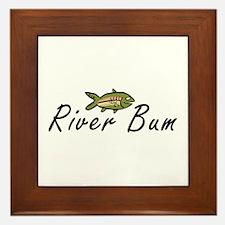 River Bum Trout Framed Tile