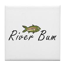 River Bum Trout Tile Coaster