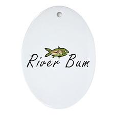 River Bum Trout Oval Ornament