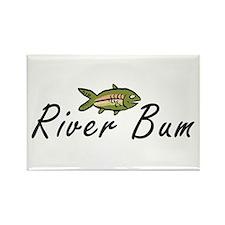 River Bum Trout Rectangle Magnet