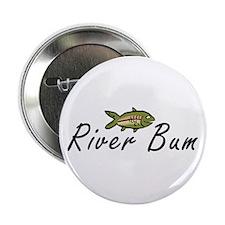 """River Bum Trout 2.25"""" Button"""