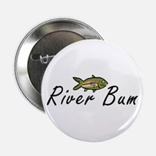 "River Bum Trout 2.25"" Button (10 pack)"