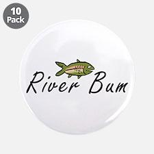 """River Bum Trout 3.5"""" Button (10 pack)"""