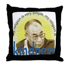 Kindness Dalai Lama Quote Throw Pillow