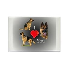 I (Heart) You GSD Rectangle Magnet