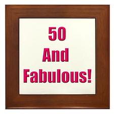 50 and Fabulous Framed Tile